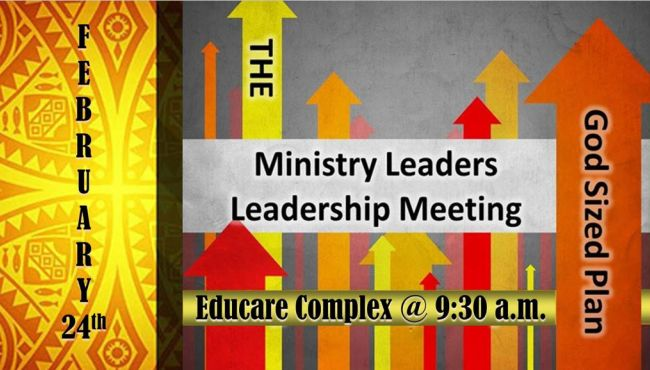 Ministry Leaders Leadership Meeting