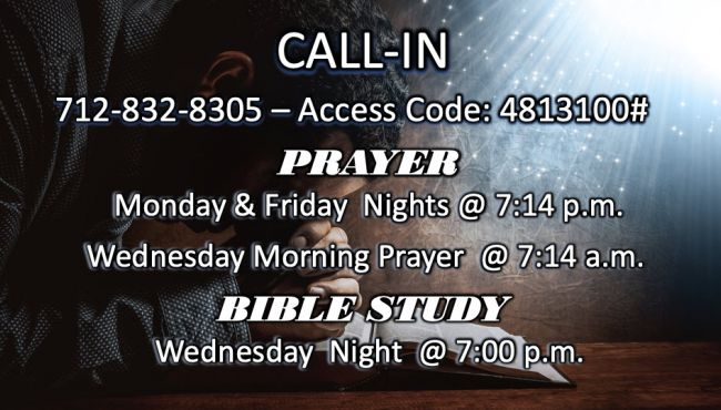 Call in Prayer and Bible Study